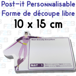 Post-it avec decoupe speciale 100x150mm