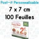 Post-it Personnalisé 7x7 cm 100 feuilles Marque Fabrik2blocs